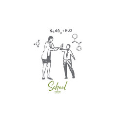 chemistry teacher concept sketch isolated vector image