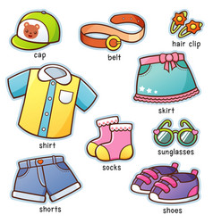 clothes vocabulary vector image