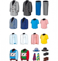 Collection outerwear vector