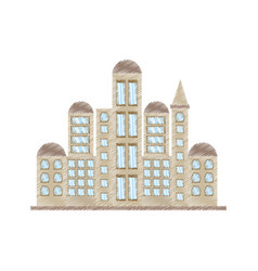 drawing building government office vector image