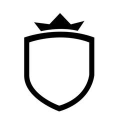 Elegant badge shield icon vector