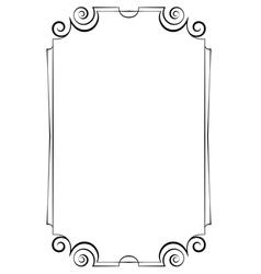 Elegant vertical frame on a white background vector