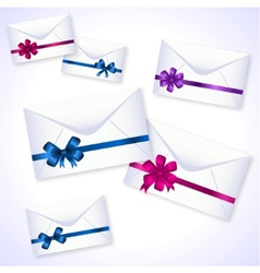 envelopes with ribbons vector image vector image
