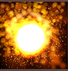 explosion bokeh gold background vector image