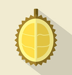 Flat Design Durian Icon vector