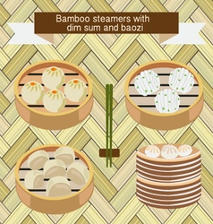 Food icon chinese dim sum and baozi vector
