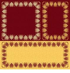 Golden floral Greek ornament Meander vector