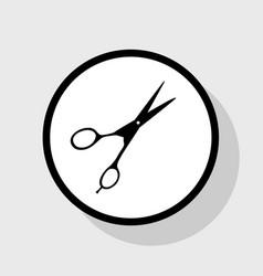 hair cutting scissors sign flat black vector image