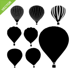 Hot air balloon silhouettes vector image