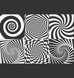 Hypnotic spiral swirl hypnotize spirals vertigo vector