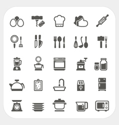 Kitchen and cooking icons set vector
