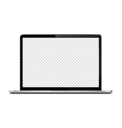 Laptop with transparent wallpaper screen isolated vector