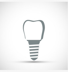 logo dental implant isolated on white background vector image