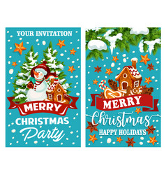 Merry christmas holidays greeting card vector