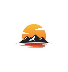 mountain logo element emblem isolated background vector image