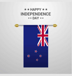 New zealand independence day hanging flag vector