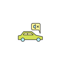 noiseless electric car drive icon outline linear vector image