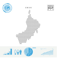 Oman people icon map stylized silhouette vector