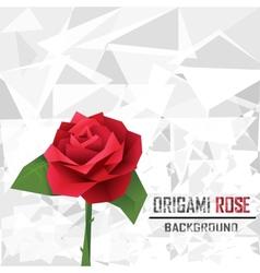 Origami rose vector