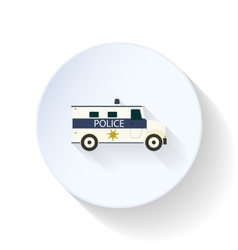Police car flat icon vector
