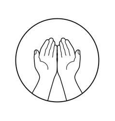 Prayer symbol vector