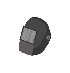 protective or safety welding helmet in cartoon vector image