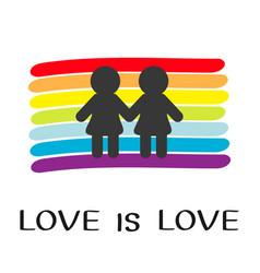 rainbow flag backdrop lgbt gay symbol love is vector image