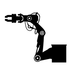 Robot arm laser vector