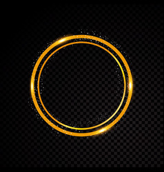 Round frame shining circle banner vector