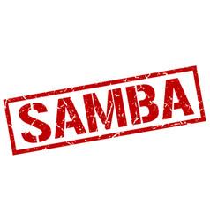 samba stamp vector image