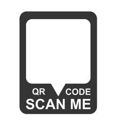 scan me qr code template smartphone mobile app vector image