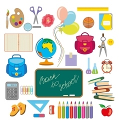 school object popping vector image