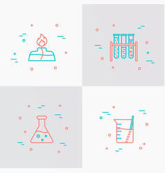 science equipment thin line icons set vector image