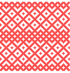 seamless pattern based on slavic ornamentfilled vector image