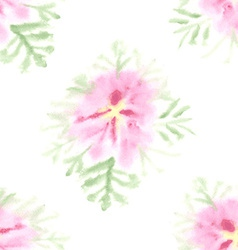 Seamless pattern with gentle watercolor flower vector image