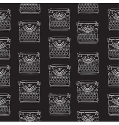 Seamless pattern with vintage typewriters vector