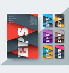 set of covers for a report in a modern style of vector image