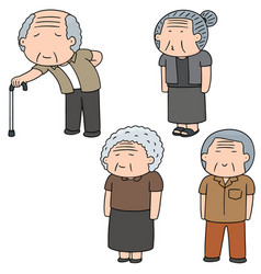 set of elder people vector image