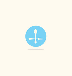 Spoon and fork food logo vector