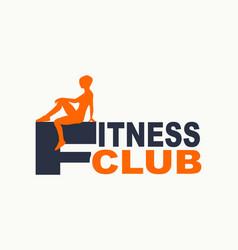 sport club emblem vector image