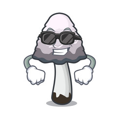 Super cool shaggy mane mushroom character cartoon vector