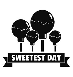 Sweet lollipop logo simple style vector
