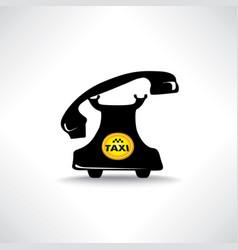 taxi sign call taxi icon retro handset vector image