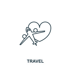 Travel outline icon premium style design from vector