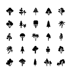 Tree Set Black And White vector
