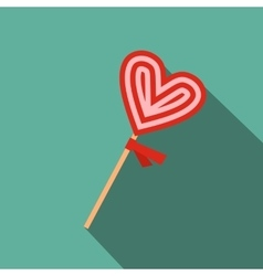 Valentine Day lollipop flat icon vector