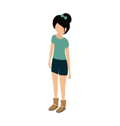 Young woman body complete vector image