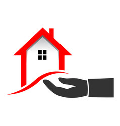 realtor hand to sell house vector image vector image