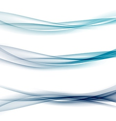 Three abstract modern swoosh border line waves vector image