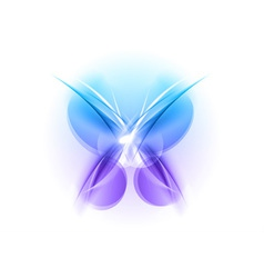 abstract blue butterfly light vector image